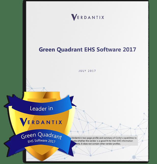 Green Quadrant EHS Software Report by Verdantix 2017