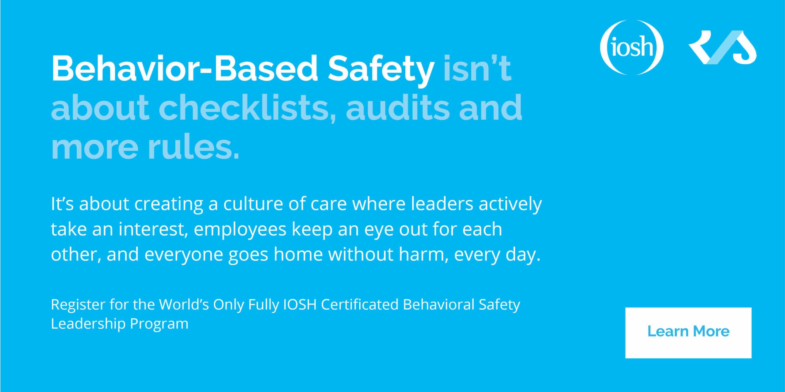 behavior based safety scaled