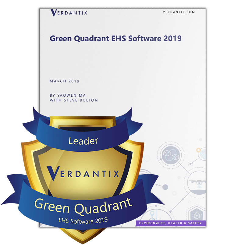 Verdantix green quadrant 2019 report with badge