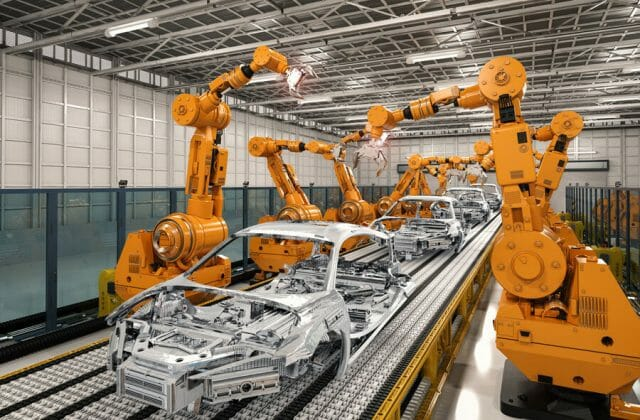 Automotive industries, image of an automotive manufacturing plant