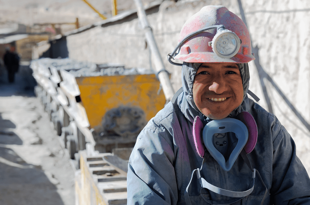 Mining industries - worker in a mining site